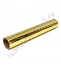 Винил клеевой фольгированный Foil, цвет золото, 30.5х30.5 см (+/- 0.5см)