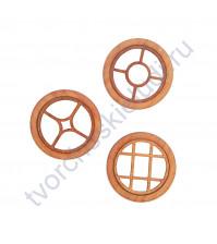 Набор круглых Окошек-1, 3 элемента, диаметр 49 мм, цвет падук