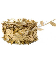 Лента золотая с листочками, ширина ок. 30 мм