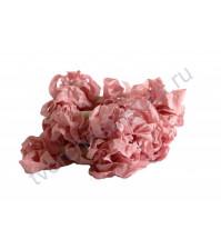 Шебби-лента мятая, розовый лепесток, ширина 14мм, 1 метр