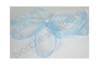 Лента декоративная капроновая Полоска, шир. 9 мм, 1 метр, цвет голубой