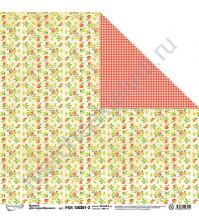 Бумага для скрапбукинга двусторонняя Краски лета, 30.5х30.5 см, 190 гр/м, лист 3