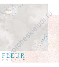 Бумага для скрапбукинга двусторонняя 30.5х30.5 см, 190 гр/м, коллекция Нежный возраст, лист Сладкие сны