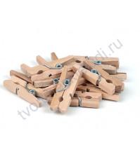 Прищепка деревянная 25 мм, 1 штука, цвет 01-натуральный