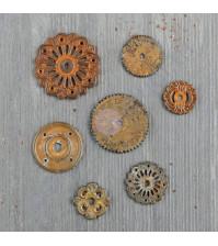 Набор металлического декора Rustic Washers, 7 элементов