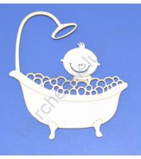 Чипборд Малыш в ванной, 65х75 мм