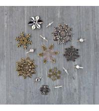 Набор металлического декора Winter Trinkets Mechanicals, 4-5 см, упаковка 16 элементов