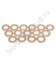 Кольцо деревянное 20 мм, 1 шт