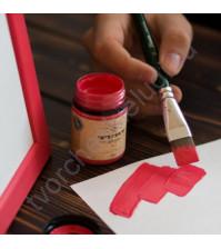 Краска акриловая Tury Design Di-7 на водной основе, флакон 60 гр, цвет Малиновый