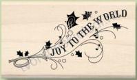 Штамп из резины на деревянной оснастке Joy to the World, 4.4х7.5 см