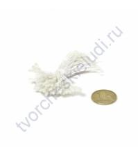 Тычинки двусторонние маленькие, 80 шт, цвет прозрачный белый