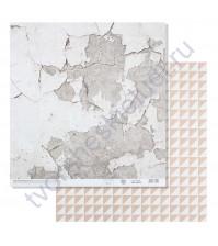 Бумага для скрапбукинга двусторонняя 30.5х30.5 см, 180 гр/м2, лист Фактура