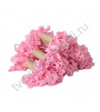 Шебби-лента мятая, Розовый щербет, ширина 14мм, моток 5м
