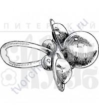 ФП печать (штамп) Маленькая погремушка, 4х3 см