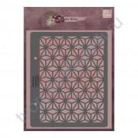 Трафарет многоразовый пластиковый Геометрия, коллекция die Villa, толщина 0.5 мм, 15х17 см
