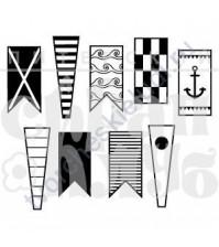 ФП печать (штамп) Морские флажки, 9 элементов