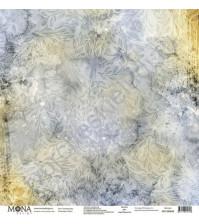 Бумага для скрапбукинга односторонняя Осень, 30.5х30.5 см, 190 гр/м, лист Теплый дождь