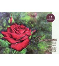 Планшет для акварели Алая роза, 200 гр/м2, формат А2, тиснение Скорлупа, 20 листов, цвет белый