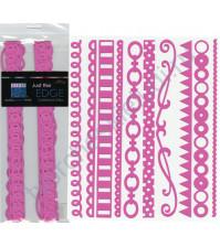 Набор бумажных ленточек Just the Edge-3, 10 видов по 2 штуки, цвет розовый