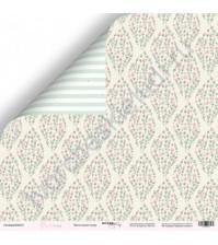 Бумага для скрапбукинга односторонняя 30.5х30.5 см, 190 гр/м, коллекция Purr Purr, лист Цветочный ковёр