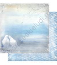 Бумага для скрапбукинга двусторонняя, коллекция Невесомость, лист 004