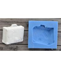 Форма силиконовая (молд) для полимерной глины, Чемодан путешественника, 35х32 мм