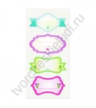 Тканевые стикеры Полуденный чай-3, 9.5х20см