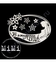 Чипборд Набор В ожидании, коллекция Мамочка, 10х7.5 см