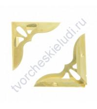 Уголок металлический для альбомов и блокнотов 31х31х7 мм, цвет золото, цена указана за 1 штуку