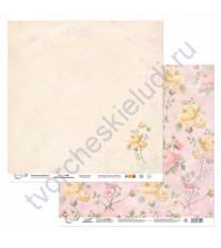 Бумага для скрапбукинга двусторонняя Вдохновение, 190 гр/м2, 30.5х30.5 см, лист 6