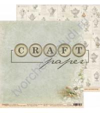Бумага для скрапбукинга двусторонняя коллекция Родные просторы, 30.5х30.5 см, 190 гр/м, лист Курочка ряба