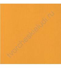Кардсток текстурированный Мандарин (Tangerine), 30.5х30.5 см, 216 гр/м2