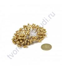 Тычинки двусторонние 3-4 мм, пучок 80 шт, цвет золото