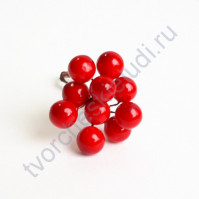 Ягодки 8 мм, 10 ягодок, цвет красный