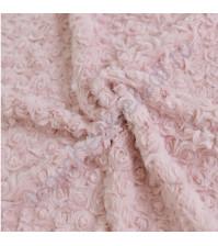 Плюш Розочки, плотность 374 г/м2, размер 48х48 см, цвет пепельно-розовый