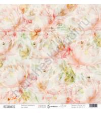 Бумага для скрапбукинга односторонняя, коллекция Бумажные птицы, 30.5х30.5 см, 190 гр\м2, лист Алый