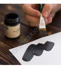 Краска акриловая перламутровая Tury Design Di-7 на водной основе, флакон 60 гр, цвет черный перламутр