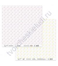 Бумага для скрапбукинга двусторонняя Зефирка, 190 гр/м2, 30.5х30.5 см, лист 3