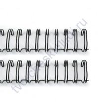 Пружинка для брошюровки, диам. 16 мм (5/8 дюйма), цвет черный