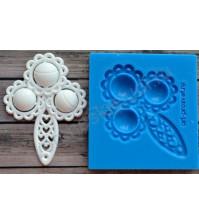 Форма силиконовая (молд) для полимерной глины, Погремушка-2, 42х59 см
