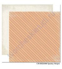 Бумага для скрапбукинга двусторонняя коллекция Happy Haunting Collection, 30.5х30.5 см, 180 гр/м, лист Spooky Stripes