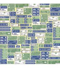 Бумага для скрапбукинга односторонняя 30х30 см, коллекция Вокруг света, лист Новые маршруты
