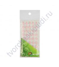Полужемчужинки клеевые Капли 6х10 мм, 45 шт, цвет ярко-розовый