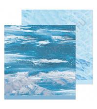Бумага для скрапбукинга двусторонняя 30.5х30.5 см, 190 гр/м, лист Зимняя стужа