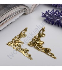 Уголок металлический ажурный 40х40 мм, цвет золото, 1 шт