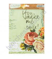 Набор бумаги для скрапбукинга Pretty Things, 6 листов, 20х25 см, плотность 190 гр/м