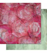 Бумага для скрапбукинга двусторонняя, коллекция Фрагменты, 30.3х30.3 см, 200 гр/м, лист 002