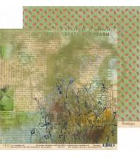 Бумага для скрапбукинга двусторонняя 30.5х30.5 см, 250 гр/м, коллекция Бабушкин сад, лист На чердаке