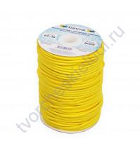 Шнур эластичный (резинка) 3 мм, цвет желтый