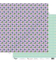 Бумага для скрапбукинга двусторонняя 30.5х30.5 см, 190 гр/м2, коллекция Жили-были, лист Птичка-невеличка